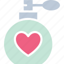 perfume bottle, romantic fragrance, romantic perfume, romantic scent icon