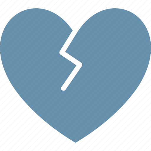 broken heart, disheart, divorce, heartbreak icon
