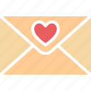 love correspondence, love greeting, love letter, love message icon