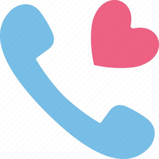 love, phone receiver, receiver, romantic tal icon