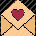 love communication, love correspondence, love greeting, love letter icon