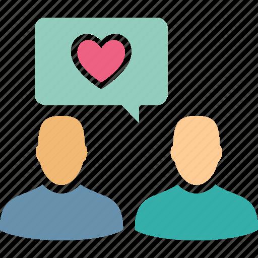 chat bubble, love chat, love message, romantic chat icon