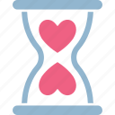 heart, heart hourglass, hourglass, love icon