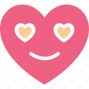 heart, heart smiley, in love, love icon