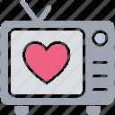 electronics, retro tv, tv, tv set icon