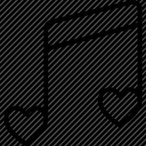 music note, quaver, romantic music icon
