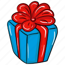 gift, gift box, present, present box, surprise, wrapped gift icon