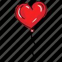 heart balloon, love balloon, love party, valentine balloon, wedding celebration icon
