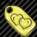 heart label, heart tag, love label, love tag, valentine tag icon
