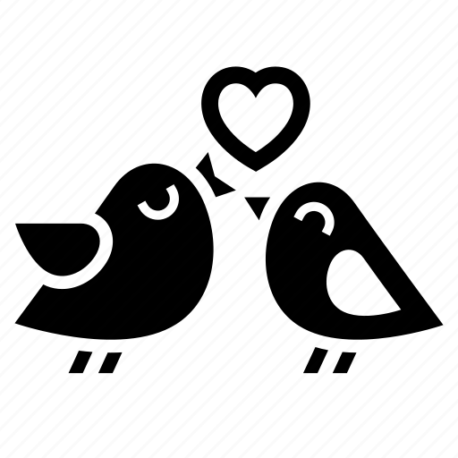 bird, couple, heart, love, romantic, together, valentine day icon