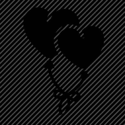 balloon, couple, heart, love, romantic, valentine day, wedding icon
