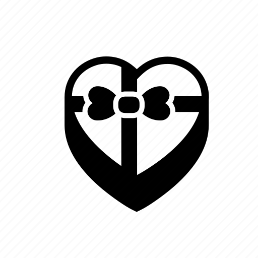 gift, heart, love, present, romantic, sweet box, valentine day icon