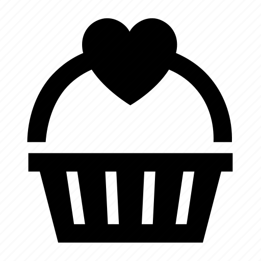 Basket, heart, love, romantic icon - Download on Iconfinder
