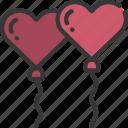 heart, balloons, loving, passion, balloon