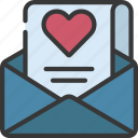 letter, loving, passion, mail, email