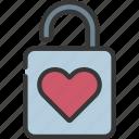 lock, loving, passion, locked, secure