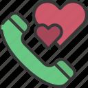 phone, call, loving, passion, heart