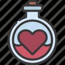 potion, loving, passion, heart, liquid
