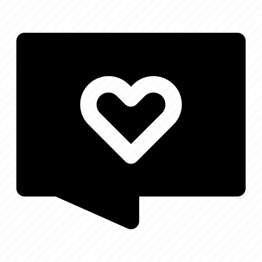 Chat, communication, heart, love, message, romance, valentine icon - Download on Iconfinder