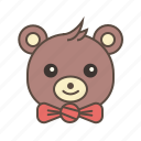 bear, bowtie, cute, gift, teddy icon