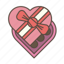 chocalates, love, romantic, valentines icon