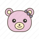bear, cute, gift, teddy, valentines icon