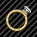 engagement, ring, wedding icon