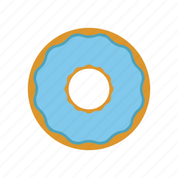 blue, cokie, donut, donuts, eating icon
