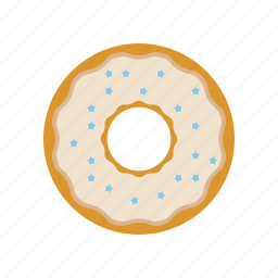 and, cream, donut, donut with pouring, donuts with pouring, stars icon