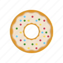 breakfast, coffee break, cokies, cream, creamy donut, donut icon