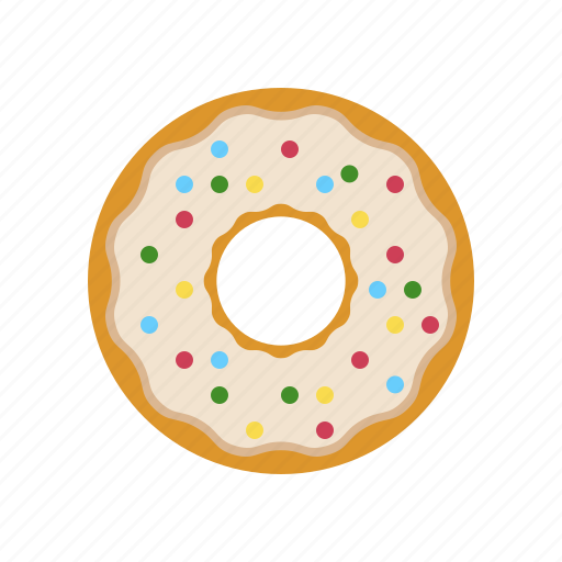 breakfast, coffee break, cokies, cream, creamy donut, donut icon