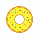 breakfast, donut, eating, egg, lemon donut, original donut icon