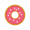 caffee, donut, original donut, pink, the simpsons donut, us donat icon