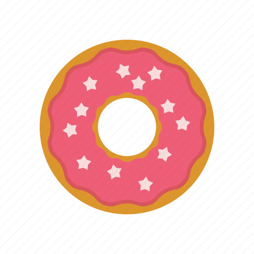Caffee Donut Original Pink The Simpsons Us Donat Icon
