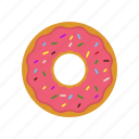 breakfast, coffee break, donut, donuts, eating, original donut, pink icon
