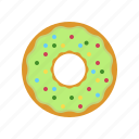breakfast, coffee, coffee break, cookie, donut, pistachio, pistachio donut icon