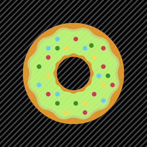 breakfast, coffee, coffee break, cookie, donut, pistachio, pistachio donut icon