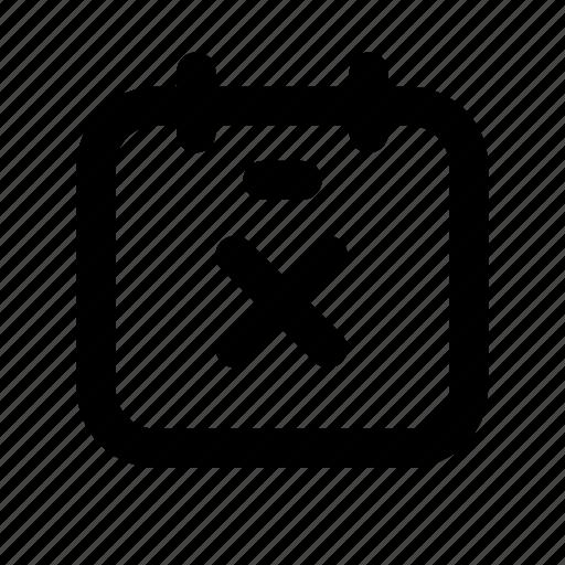 .svg, calendar, calendar delete, date, schedule icon
