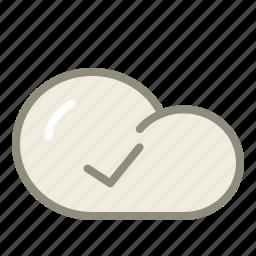accept, check, cloud icon