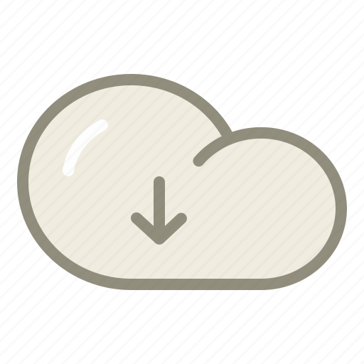 cloud, download, downloads icon