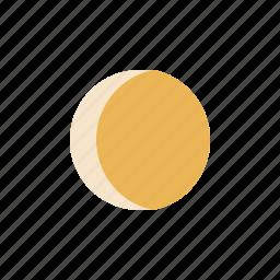 gibbous, moon, waxing icon