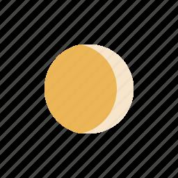 gibbous, moon, waning icon