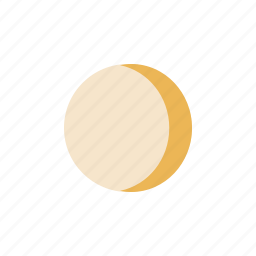 crescent, moon, waxing icon