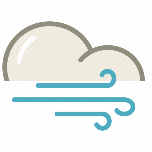 cloud, clouds, cloudy, forecast, weather, wind, windy icon