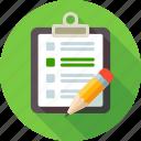 check, checklist, list, note, notebook, pensil, remark