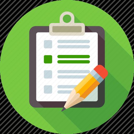 check, checklist, list, note, notebook, pensil, remark icon