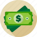 cash, currency, dollar, finance, greenback, money icon