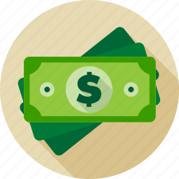 bill, cash, currency, dollar, finance, greenback, money icon