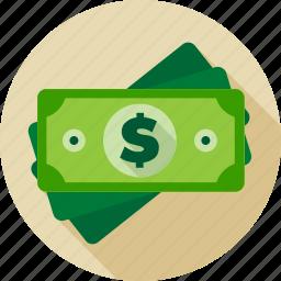 cash, currency, dollar, finance, greenback, money icon