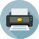 color, hardware, paper, print, printer, printing, printing house icon